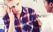 Doctor reassuring girl