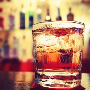 Shot glass on bar